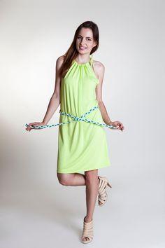 Short airy thin summer woman dress in kiwi colour Short Summer Dresses, Handmade Design, Kiwi, Spring Summer, Colour, Sport, Woman, Elegant, Color