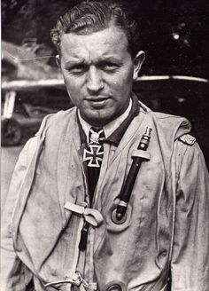 Oberleutnant Walter Oesau 7/JG51 - 18th August. III./JG 51 escorted Dorniers attacking Hornchurch airfield. Intercepted by Hurricanes over Kent, Oesau claimed one Hurricane shot down as his 20th victory, earning him the Knight's Cross of the Iron Cross two days later, the first pilot of JG 51 to be thus honored.