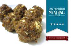 Easy paleo baked meatball recipe