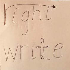 Anchor chart to tell the difference between right and write. Teaching Grammar, Teaching Writing, Teaching Tips, Writing Skills, Teaching English, Learning Tools, Preschool Learning, Classroom Activities, English Lessons