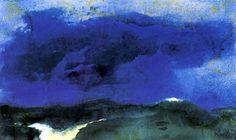 Green Sea with Blue Cloud Emil Nolde