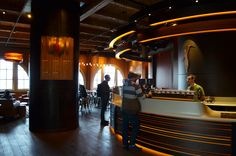 Storyville Coffee has a wonderful modern environment and delectable coffee.