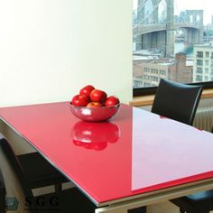 Superb Back Painted Glass Table Top   What A Great Way To Get That High   Gloss  Lacquer Finish Look!