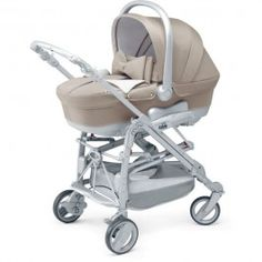 Cam Combi Minu Elite Baby Stroller with bow in light sand with crystal decor for my little starlet girl