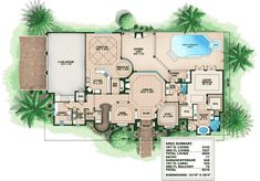 Spacious Mediterranean House Plan - 66015WE | Architectural Designs - House Plans