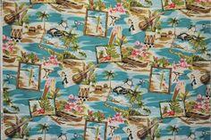 CAB0064 - 100% Cotton Fabric: Hawaiian Print Fabric