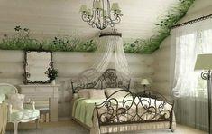 Romantische Wohnidee für ein Schlafzimmer im Vintage-Stil
