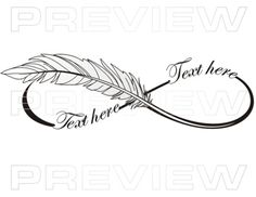 ▒Tattoo Lettering Design▒ Professional Custom Tattoo Lettering Service | Lettering Infinity Tattoo Feather