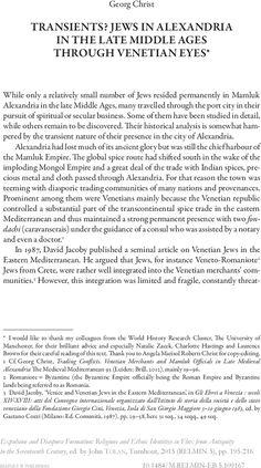 Jews in Alexandria in the late Middle Ages through Venetian eyes University Of Manchester, Late Middle Ages, Historian, Alexandria, Book Publishing, Venetian, Seventeen, Spirituality, High Middle Ages