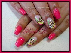 Pink Neon by RadiD - Nail Art Gallery nailartgallery.nailsmag.com by Nails Magazine www.nailsmag.com #nailart