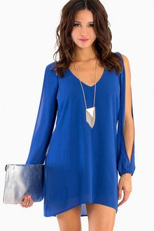 Royal Blue Cutout Sleeve
