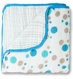 aden + anais Muslin Dream Blanket, Aqua and Brown Crib Blanket, Blue Blanket, Muslin Baby Blankets, Warm Blankets, Dream Blanket, Newborn Nursery, Baby Necessities, Baby Essentials, Baby Store