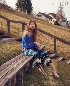 """Lee Sung Kyung Talks About How """"Weightlifting Fairy Kim Bok Joo"""" Brought Out Her Real Personality Lee Sung Kyung, Kim Bok Joo Fashion, Korean Actresses, Actors & Actresses, Cha Seung Won, Grazia Magazine, Weightlifting Fairy Kim Bok Joo, Joo Hyuk, Korean Celebrities"""