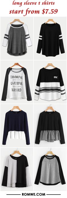 long sleeve t shirts from $7.59