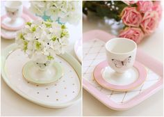 Easter centerpieces with Miss Etoile pieces