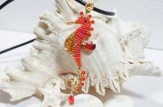 Amber Seahorse Wire Wrapped Pendant Multi Gemstone by Trendydeals