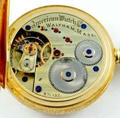 Waltham, rare American Watch Co grade model 1872 with sawtooth balance, 16S