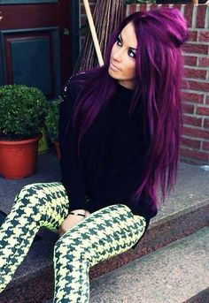 Beautiful purple hair!