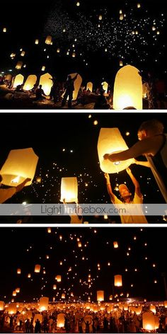 $2.99 KongMing Candle Powered Flying Sky Lantern (Assorted Color)