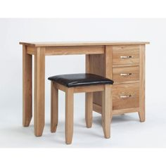 Sherwood Oak Stool - The Sherwood Oak range is made of a high quality grade of oak and exhibits all the hallmarks of quality furniture.These include wood-panelled drawer bases and cabinet backs and the use of dovetailed joints in constructing drawers. Selling Furniture, Quality Furniture, Light Oak Furniture, Bedroom Furniture, Home Furniture, Dressing Table With Stool, Dressing Tables, Pu Fabric, Cabinet Makers