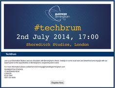 #techbrum - #techbrum event invite for 2 July in Shoreditch Studios