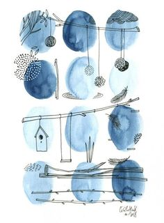The seed balls are more often hung gray than wheat on a sky background … The post The seed balls are on a sky background … appeared first on Woman Casual - Drawing Ideas Abstract Watercolor, Watercolor And Ink, Watercolour Painting, Watercolor Flowers, Painting & Drawing, Watercolors, Drawing Sky, Watercolor Design, Watercolor Illustration