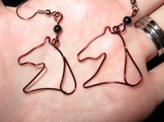 Wire Wrapped Horse Head Earrings MADE to ORDER
