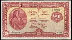 Currency Commission, Twenty Pounds, 10 September 1928, X/01 039399, Brennan-McElligott signatures (LTN 5; Pick 5). Repair to short tear in top right corner, otherwise good fine, scarce