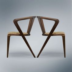 Portuguese Roots Chair by AroundtheTree   Inspired by the 1953 model, the Goncalo chair designed by Alexandre Caldas for Arcalo