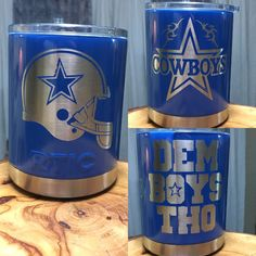 Cowboy themed custom tumbler.