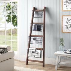 August Grove® 4 ft Blanket Ladder | Wayfair Wood Ladder, Ladder Bookcase, Ladder Decor, Diy Ladder, Wall Ladders, Barn Wood Decor, Diy Blanket Ladder, Quilt Ladder, Blanket Rack