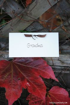 Thanksgiving Place cards...Where do you WISH to sit?
