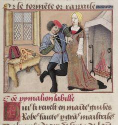 Miniatura de una edición Le Roman de la Rose, la segunda mitad del siglo XV, escrito por Guillaume de Lorris y continuado por Jean de Meung en el siglo XIII.