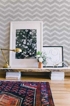 Kate Arends 'Minneapolis Apartment Tour – Das Everygirl – Home Decor Inspiration – Bilder Decoration Inspiration, Interior Inspiration, Rug Inspiration, Decor Ideas, Home Interior, Interior Decorating, Decorating Ideas, Interior Paint, Modern Interior