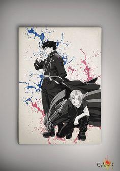 Fullmetal Alchemist Watercolor illustrations Print  Wall Art Poster Giclee Wall Anime Art Home Decor Wall Hanging Modern Geek Multi Size 480 on Etsy, 31,37zł