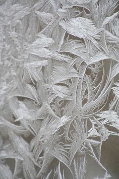 Frost on a single pane window