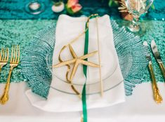 All the Inspiration You'll Need for a Little Mermaid-Themed Wedding - The Table Setting from #InStyle