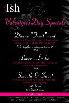 valentines day menu at the keg