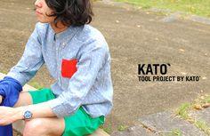 【楽天市場】KATO`BASIC カトーベーシック 3/4スリーブ ドットシャツ・bs310651(全3色)(unisex)【2013春夏】Crouka LR(クローカ エルアール)