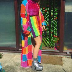 WEBSTA @ shopfluffy - The QUEEN of sass @helibells giving me lifeeeeee wearing the Patchwork Cozy Cardi