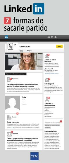 7 formas de sacar partido a Linkedin #infografia #infographic #socialmedia