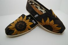 Sunflower custom painted TOMS shoes