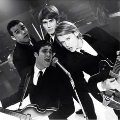 """Glee's Beatle Tribute show the """"Fab Four"""" with Blaine(Darren Criss), Sam (Chord Overstreet), Ryder(Blake Jenner), and Jake(Jacob Artist) . Watch them as they Beatle Music when Glee Season 5 returns on September 26 th. at 9pm EST/C"""