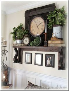 Would love this mantle shelf in the dining room instead of the mirror...could decorate it seasonally instead of the table