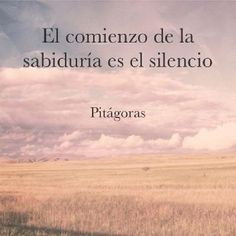 """Recovery in Spanish,"" Pitágoras. Translation: ""Silence is the beginning of wisdom. The Words, More Than Words, Me Quotes, Motivational Quotes, Inspirational Quotes, Wisdom Quotes, Citation Gandhi, Frases Humor, Spanish Quotes"