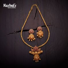 Beautifully crafted #antique #necklace with #ruby and plated with gold polish