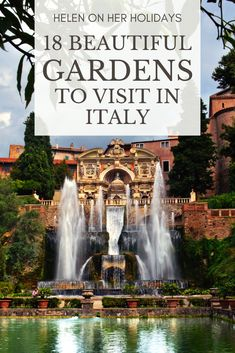 Make sure you add these gorgeous gardens in Italy to your must-visit list! From the foothills of the Italian Alps to Sicily, Italy is full of beautiful gardens. Here are the best Italian gardens to visit - dreamy! Includes: the Villa d'Este Gardens near Rome, the Boboli Gardens in Florence and the Caserta Gardens near Naples - voted the world's most beautiful gardens. Many of these beautiful gardens in Italy are even UNESCO World Heritage Sites! #GardensInItaly #BestGardensItaly… Most Beautiful Gardens, World's Most Beautiful, Beautiful Places, Tuscany Italy, Venice Italy, Sorrento Italy, Verona Italy, Puglia Italy, Italy Italy