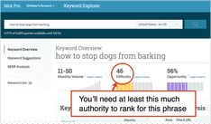 """Good suggestions for how to pick the """"right"""" keywords. NOTE: You'll need Moz Pro."""
