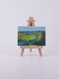 ACEO River Landscape  mini art print of by FreelyExpressed on Etsy, $7.99