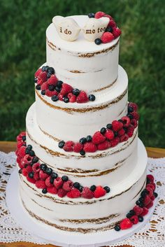 Wedding Cakes - a must view exquisite pin example number 1996972976 Naked Wedding Cake With Fruit, Berry Wedding Cake, Luxury Wedding Cake, Fall Wedding Cakes, Wedding Cakes With Cupcakes, Wedding Cake Designs, Wedding Desserts, Rustic Wedding, Cupcake Cakes